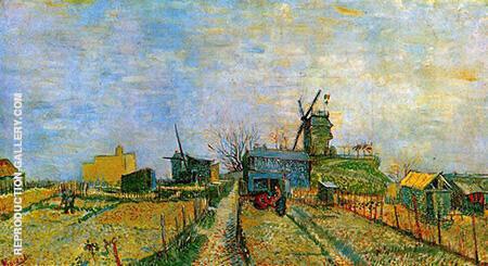 Vegetable Gardens in Montmartre By Vincent van Gogh