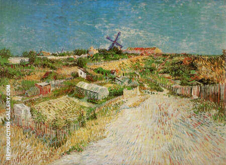 Vegetable Gardens in Montmartre 2 By Vincent van Gogh