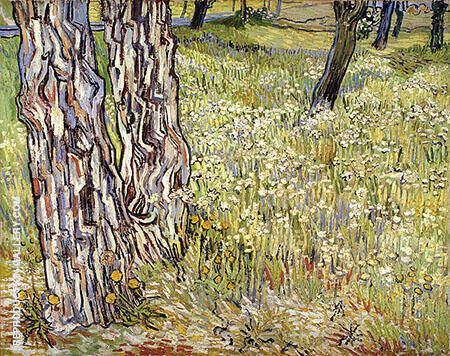 Tree Trunks in the Grass c1890 By Vincent van Gogh