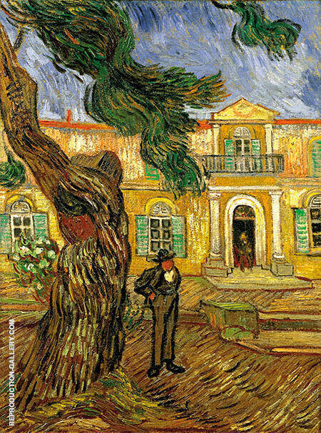 Tree and Man St Remy By Vincent van Gogh