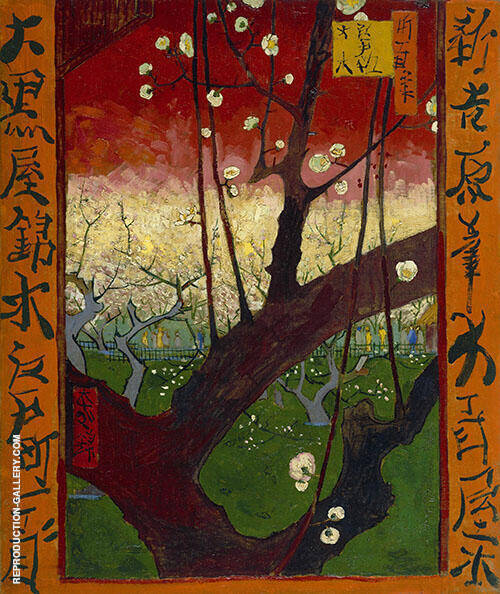 Plum Tree in Bloom After Hiroshige By Vincent van Gogh