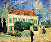 The White House at Night 1890 By Vincent van Gogh