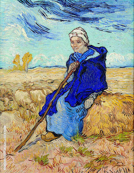 The Shepherdess By Vincent van Gogh