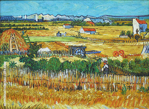 The Harvest La Crau 1888 By Vincent van Gogh