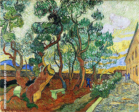 The Garden of Saint Pauls Hospital 1889 By Vincent van Gogh