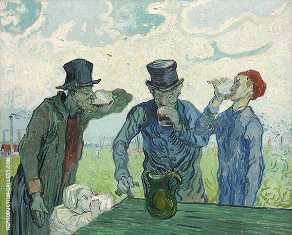 The Drinkers 1890 By Vincent van Gogh