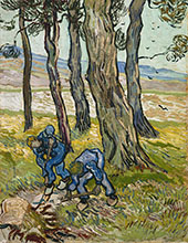 Two Diggers Among By Vincent van Gogh