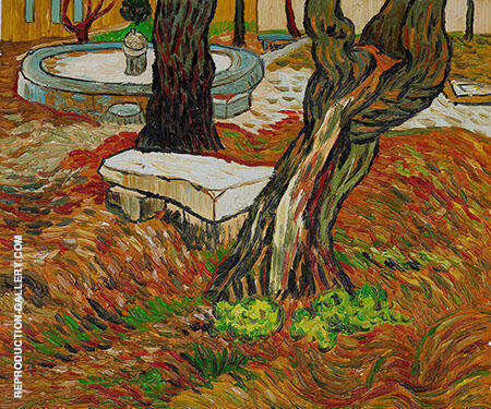 Stone Bench in the Garden of Saint Paul Hospital the November 1889 By Vincent van Gogh