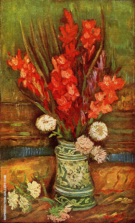 Still Life with Red Gladioli By Vincent van Gogh