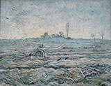 Snow Covered Field with a Harrow After Millet 1890 By Vincent van Gogh