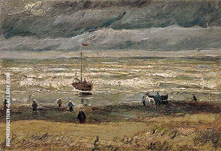 Seashore at Scheveningen By Vincent van Gogh