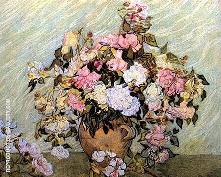 Vase with Roses By Vincent van Gogh