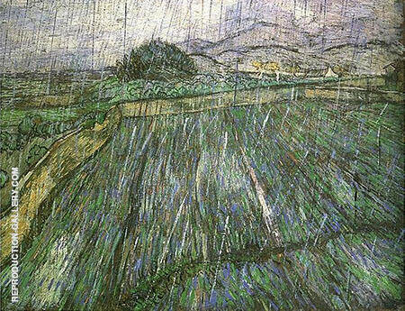 Rain 1889 By Vincent van Gogh
