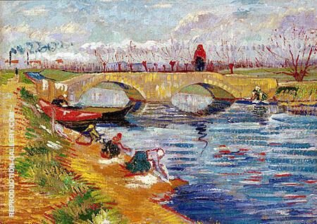 Pont Sur Le Canal Vigueirat 1888 Painting By Vincent van Gogh