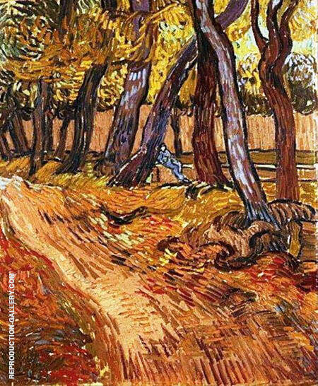 Path in the Garden of the Asylum November 1889 By Vincent van Gogh