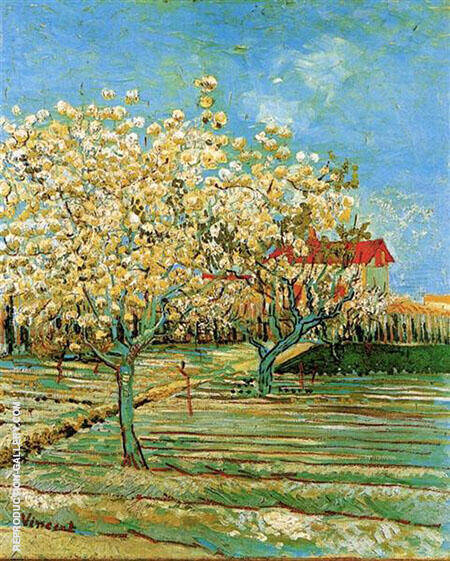 Orchard in Blossom 1888 By Vincent van Gogh