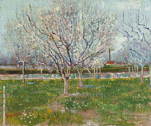 Orchard in Blossom Plum Trees By Vincent van Gogh
