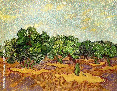 Olive Grove Pale Blue Sky By Vincent van Gogh