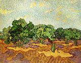 Olive Grove Pale Blue Sky By Vincent van Gogh