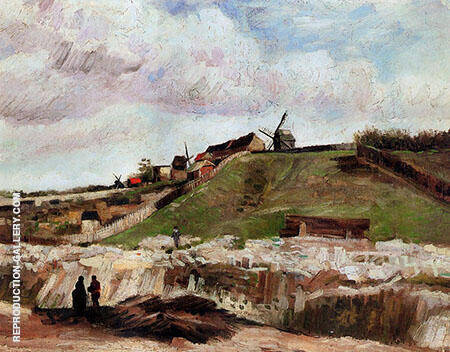 Montmartre the Quarry and Wind Painting By Vincent van Gogh