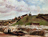 Montmartre the Quarry and Wind By Vincent van Gogh