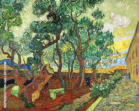 Asylum Garden of St Remy By Vincent van Gogh
