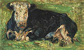 Lying Cow 1883 By Vincent van Gogh