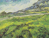 Green Wheat Field 1889 By Vincent van Gogh