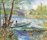 Fishing in the Spring 1887 By Vincent van Gogh