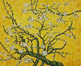 Branches of Almond Tree in Blossom in Yellow By Vincent van Gogh