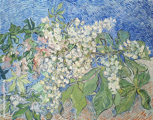 Blossoming Chestnut Branches Painting By Vincent van Gogh