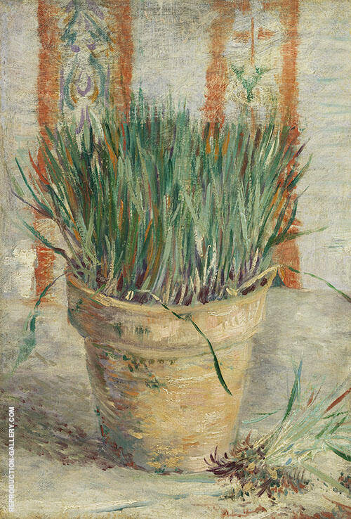 Flowerpot with Chives 1887 By Vincent van Gogh