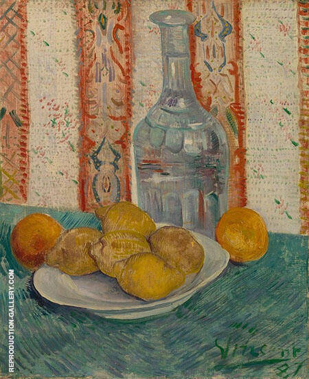 Still Life with Carafe and Lemons 1887 By Vincent van Gogh