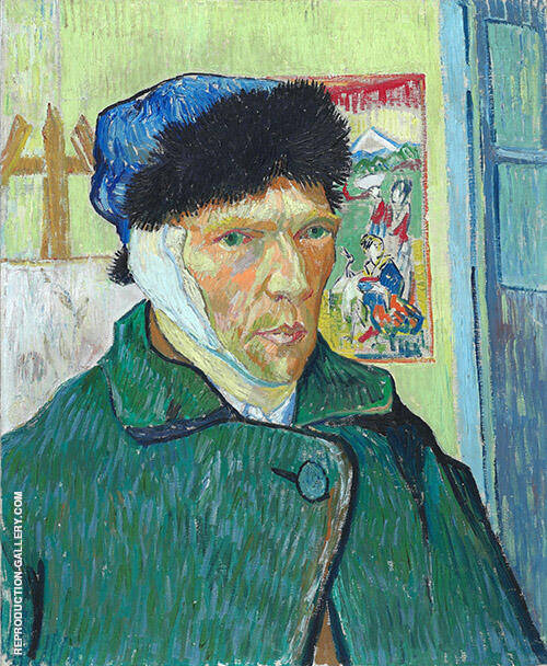 Self Portrait with Bandaged Ear Arles 1889 Painting By Vincent van Gogh