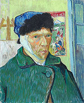 Self Portrait with Bandaged Ear Arles 1889 By Vincent van Gogh