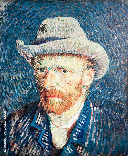 Self Portrait with Grey Felt Hat 1887 By Vincent van Gogh