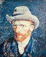 Self Portrait with Grey Felt Hat 1887 By Vincent van Gogh