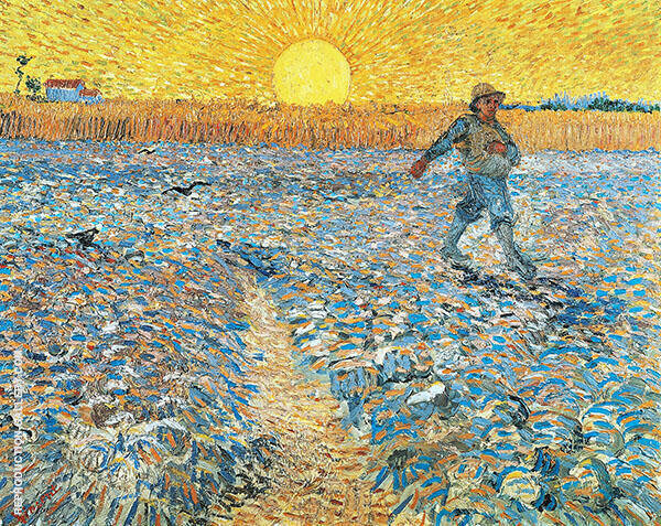 The Sower 1888 By Vincent van Gogh