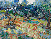 Olive Trees 1889 By Vincent van Gogh