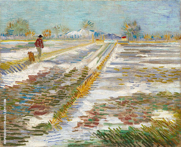 Landscape with Snow 1888 By Vincent van Gogh