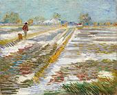 Landscape with Snow 1888 By Vincent van Gogh