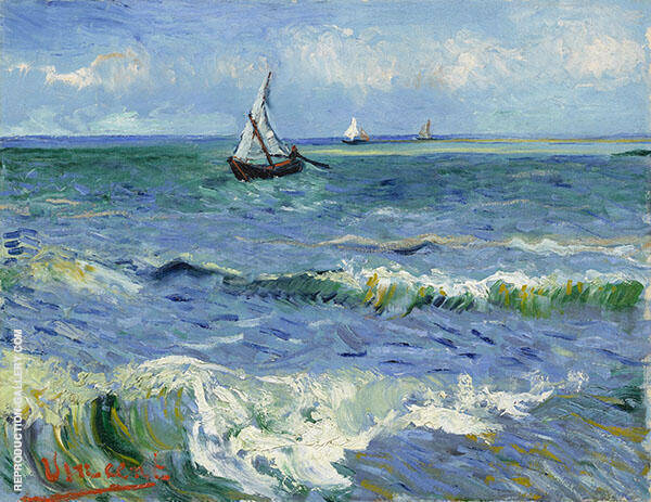Seascape Saintes Marie 1888 1 Painting By Vincent van Gogh