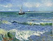 Seascape Saintes Marie 1888 1 By Vincent van Gogh