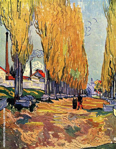 Les Alyscamps 1888 By Vincent van Gogh