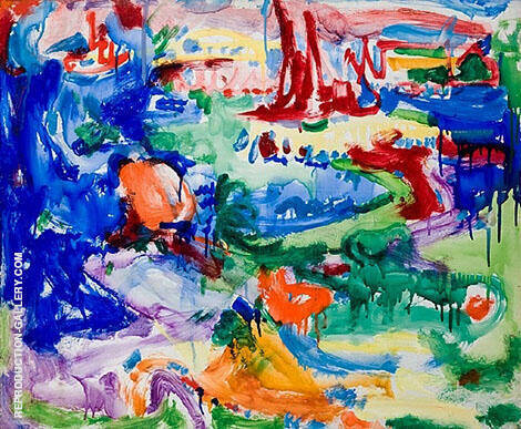 Landscape 1935 Painting By Hans Hofmann - Reproduction Gallery