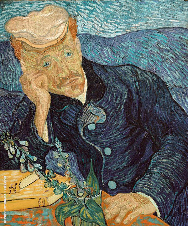Portrait of Dr Gachet 1890 By Vincent van Gogh