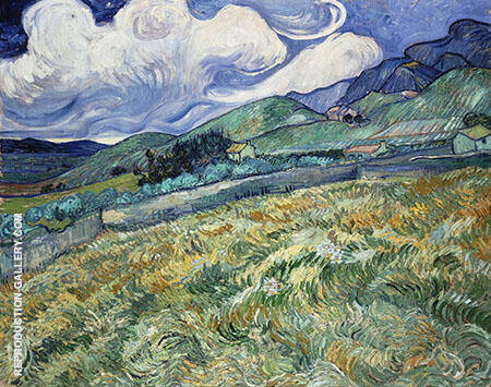 Landscape at St Remy 1889 By Vincent van Gogh