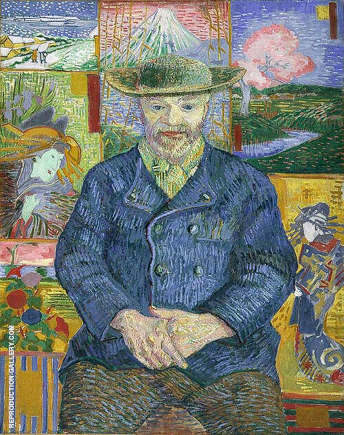 Portrait of Pere Tanguy Painting By Vincent van Gogh