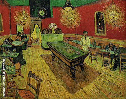 Night Cafe 1888 Painting By Vincent van Gogh - Reproduction Gallery