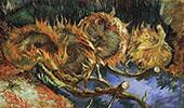 Four Cut Sunflowers By Vincent van Gogh